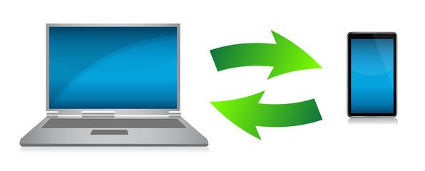 transferring files concept illustration design