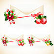 Envelopes with Christmas decoration