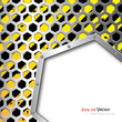 Honeycomb lattice above business steel plate background