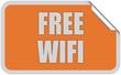 Sticker orange eckig curl oben FREE WIFI