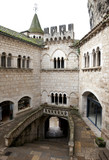 Court in Rocamadour abbey, France