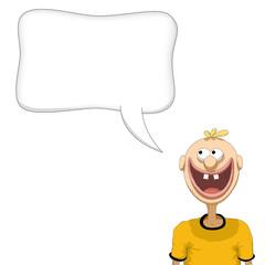 persona felice che parla