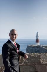 Business Man & Lighthouse