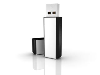 Black stylish USB flash drive