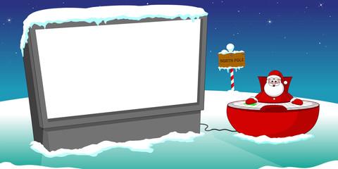 santa and screen