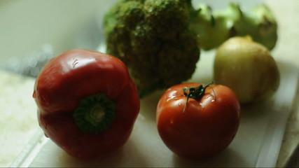 Cutting vegtables