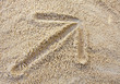arrow on sand