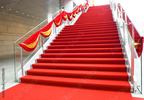 Papiers peints Escalier red carpet