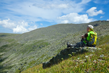 resting  mountains tourist