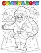 Coloring book Santa Claus theme 1