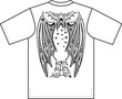 Devil's wings. T-shirt design.