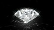 Shiny diamond with caustics- loopable cg animation