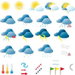 symboles météo avec dégradés