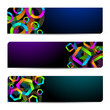 Abstract vector banners with colorful shapes