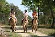 Leinwandbild Motiv Equitation balade - Riding
