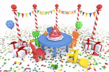 cartton like birthday party