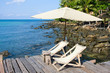 Wooden Pier In Tropical Paradise