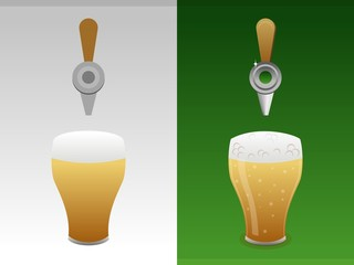 Symbol of beer for advertising. Simple and realistic