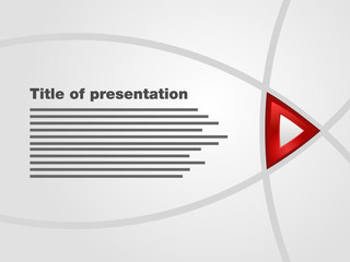 Template of flash interactive presentation