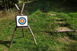 Bullseye target on a tripod for range shooting