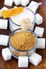 Several types of sugar