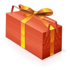 Boite à outils en cadeau (ruban or)