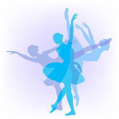 vector silhouette of a ballerina