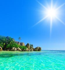 Hot Summer Rocky Beach