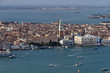 Italy, Venice, aerial view of the city and venetian lagoon
