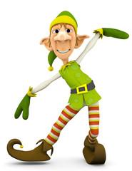elf the santa helper in tada show up