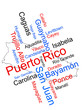 Puerto Rico map and cities