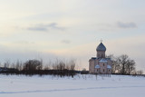 Winter landscape with the Orthodox Church