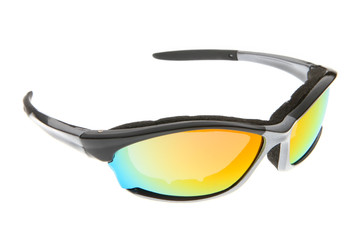 fashion colorful Sport sunglasses on white background