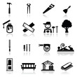Icons set carpentry