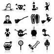 Icons set Halloween
