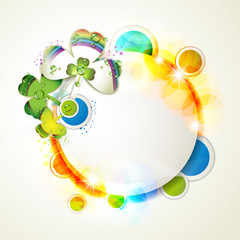 Colored abstract background with clover
