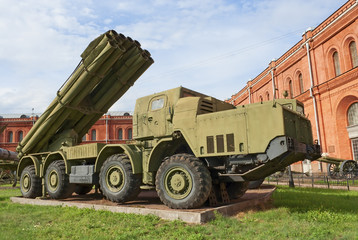 "BM-30 ""Smerch"" multiple rocket launching system"