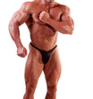 bodybuilder flexing