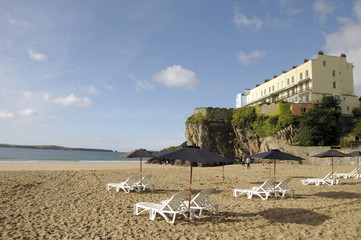 Castle beach at Tenby, Pembrokeshire, South Wales