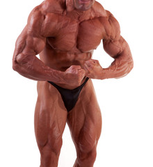 bodybuilder posing -most muscular pose