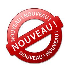 """Tampon Publicitaire """"NOUVEAU"""" (nouveauté publicité découverte)"""