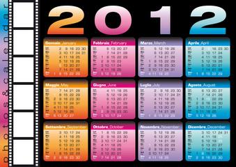 2012 calendario bilingue italiano e inglese con spazio per foto