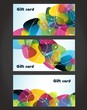 Set of gift cards, vector