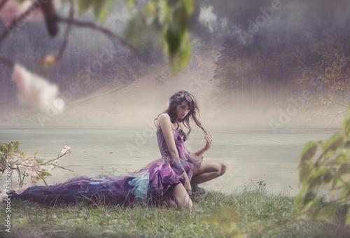 Beauty woman in fairy scenery - 35819899