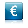 Boton cuadrado azul simbolo Euro