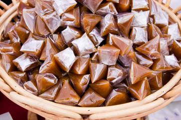 Brown thai sticky dessert