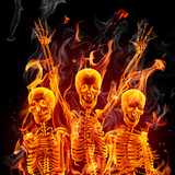Fototapety Fire skeletons