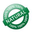"""100% NATURAL"" Marketing Stamp (organic ecological green fresh)"