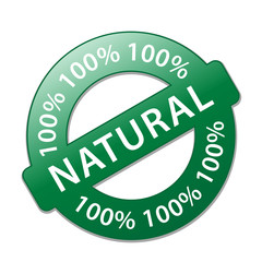 """100% NATURAL"" Marketing Stamp (organic ecological green fresh)"
