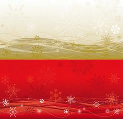 doppio sfondo largo di Natale in due colori, oro e rosso